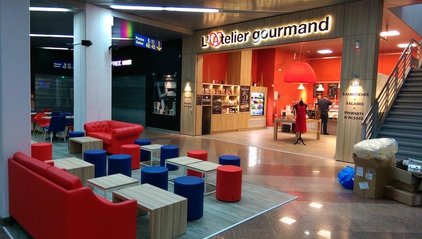 Areas - Aéroport de Strasbourg (67) - Application de concept - Conception des back offices / cuisine / stockage - Assistance technique et maîtrise d'oeuvre d'exécution des points de vente - GCB Etudes - Grand Est