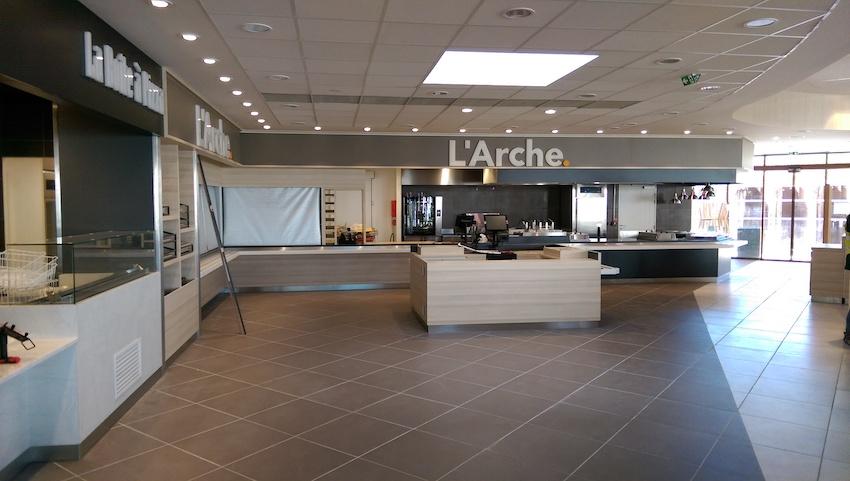 Areas - Aire de la Sarthe (72) - Application de concept - Conception des back offices / cuisine / stockage - Etudes et suivi de mise en œuvre du froid commercial - Assistance technique et maîtrise d'oeuvre matériel des points de vente et de la zone commune - GCB Etudes - Grand Est