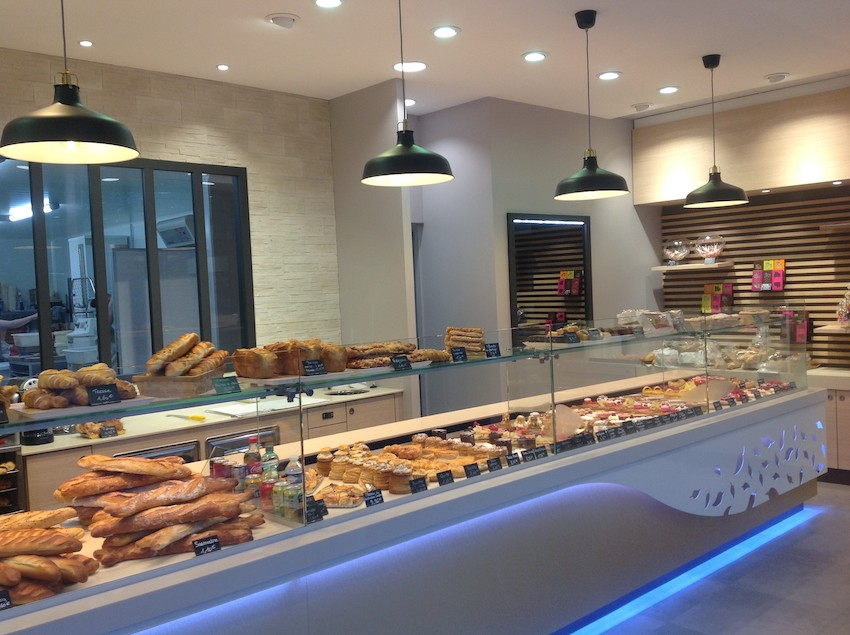 Boulangerie Milano - Jarville-la-Malgrange (54) - Conception de la boutique et du laboratoire de production dans un clos couvert - Etudes et suivi de mise en œuvre du froid commercial - Maîtrise d'oeuvre d'exécution - GCB Etudes - Grand Est
