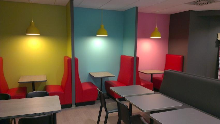 Elior - Aire de Berchem (Luxembourg) - Application de concept - Conception des back offices / cuisine / stockage - Etudes et suivi de mise en œuvre du froid commercial - Assistance technique et maîtrise d'oeuvre matériel des points de vente et espaces communs - GCB Etudes - Grand Est